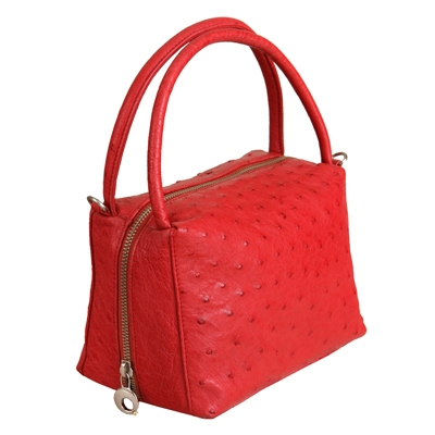 Элегантная красная сумка из кожи страуса купить в интернет-магазине, цена.