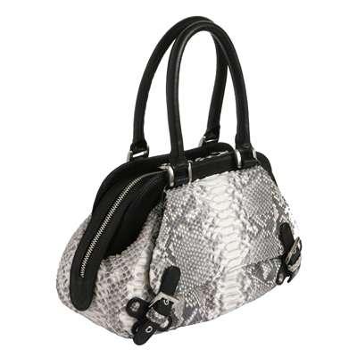Женская сумка из кожи питона c декоративными ремешками.  150x150 - 400x400 www.menknife.ru.