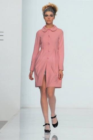 Пальто розовый Цветок.  Пальто из легкой костюмной ткани с...