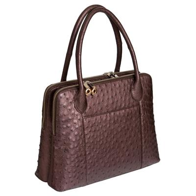Женская сумка из кожи страуса Alanda 23409, модель: 056-328-ost