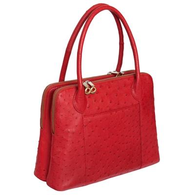 Женская сумка из кожи страуса Alanda 23408, модель: 056-391-ost