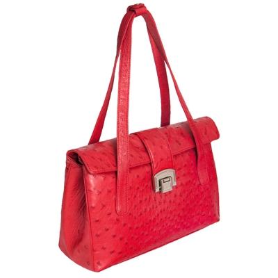 Женская сумка из кожи страуса Alanda 23393, модель: 060-391-ost