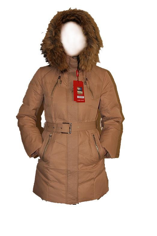Производитель:SnowImage.  Зимняя куртка пуховик бежевая.