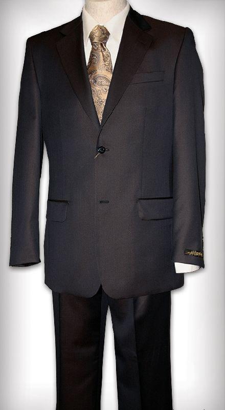 Костюм мужской темно-сине-коричневый Slava Zaitsev шерсть с шел.