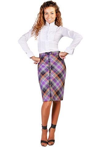 Одежды malinka fashion длинная юбка в клетку