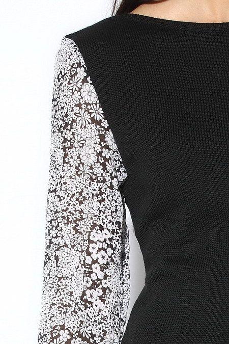 выкройка платья из шифона с длинным рукавом.