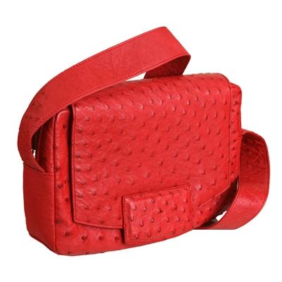 Женская сумка из кожи страуса Alanda 23289, модель: 118-391-ost