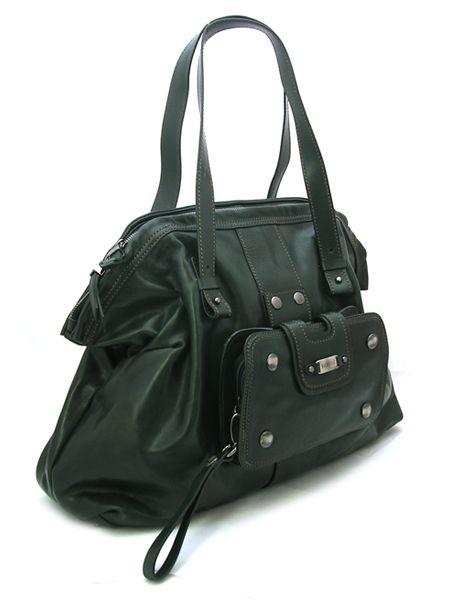 Темно-зеленая кожаная сумка итальянской марки VIC MATIE.