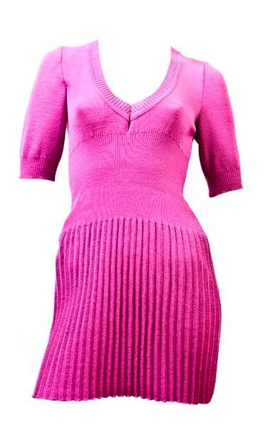 Трикотажное платье с юбкой гофре.  Leg-gofre.