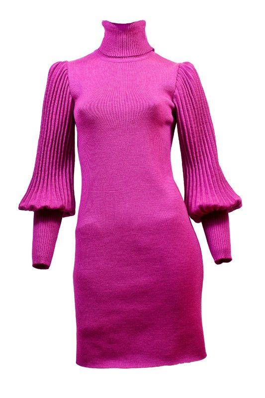 Leg-фуксгофр.  Трикотажное платье Фуксия.