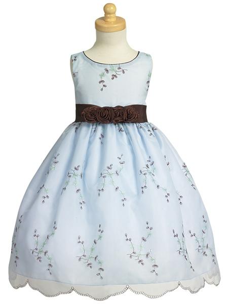 """Нарядное детское платье  """"Ассолька """" нежно голубого цвета.  LM 608."""