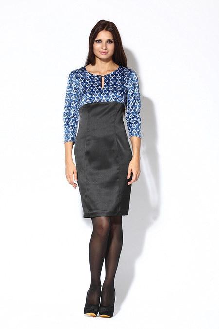 Изысканное сине-черное платье от Re Mix.