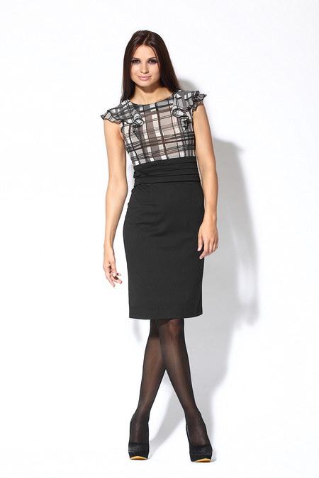 Оригинальное платье с шифоновым верхом от Re Mix.