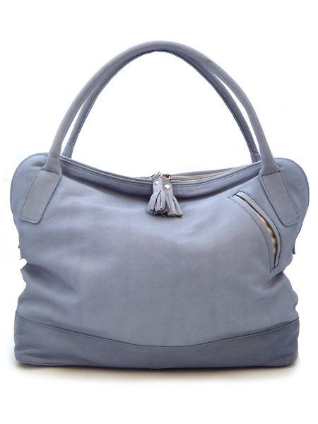Купить Светло-голубая сумка из мягкой кожи.