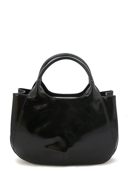Чёрная женская сумка-портфель.