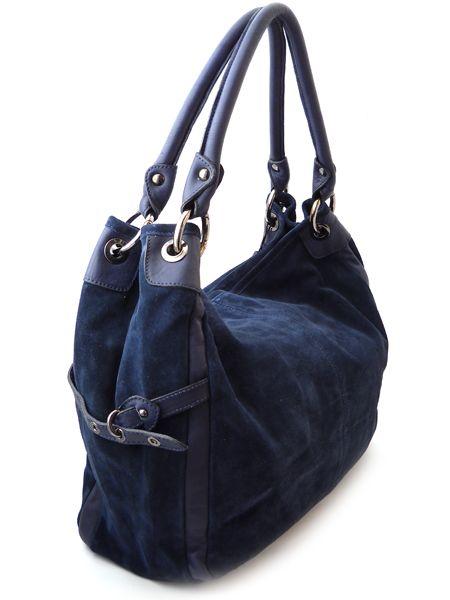 """Темно-синяя замшевая сумка  """"Шик  """".  Италия."""