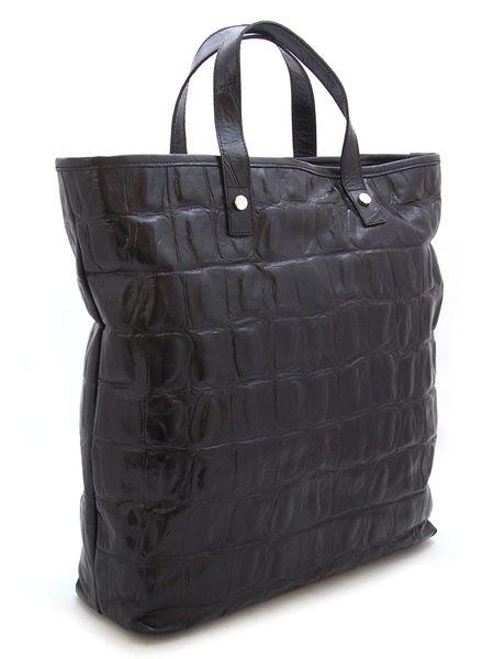 Кожаная высочайшая сумка под крокодила.
