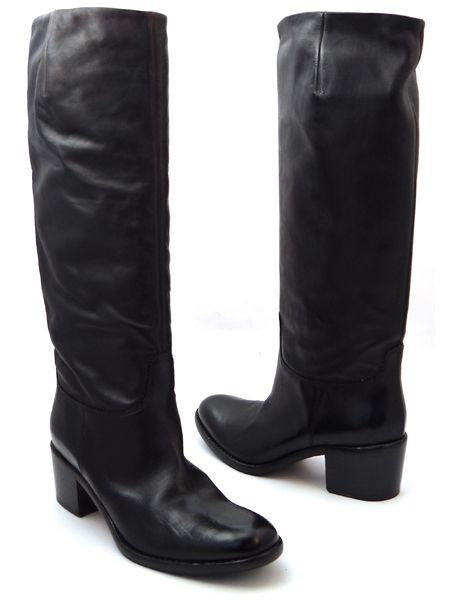 """Модные темно-коричневые  """"солдатские """" сапоги итальянской марки EVA TURNER."""