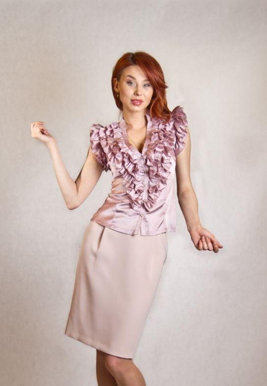 Блузка Женственная С Доставкой