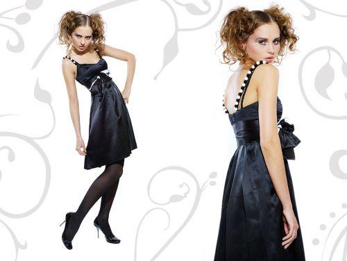 Коктейльное платье с бретелями из бус