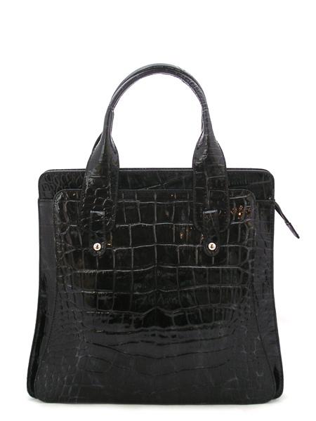 Производитель:Италия.  Женская сумка-портфель из натуральной лаковой кожи.