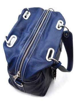 итальянские женские кожаные сумки синие - Сумки.