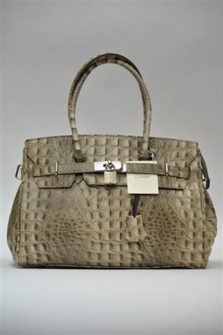 Маленькая сумка оливковый крокодил.