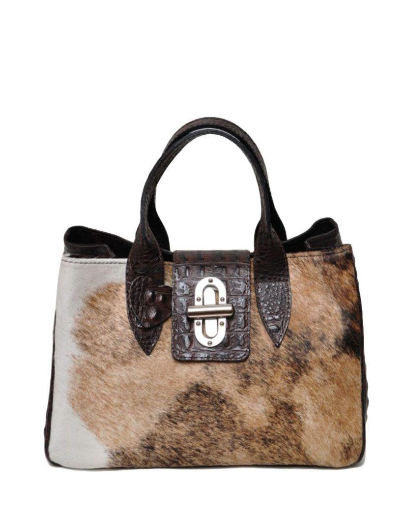 Удобная сумочка с мехом пони.