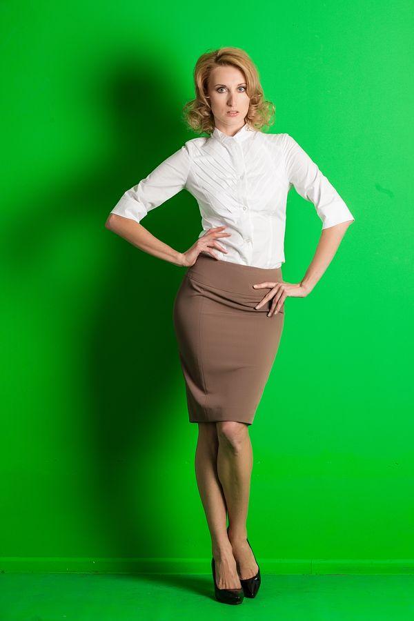 Блузка К Гофрированной Юбке Фото