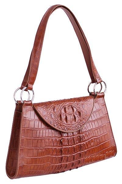 Женская сумка из кожи крокодила 014.