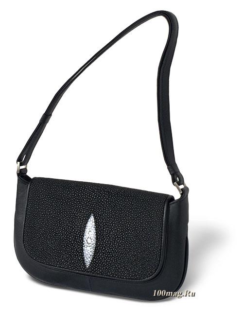Вечерняя женская сумка из кожи ската T017.  1415.