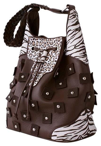 Престижная, комфортная сумка из натуральной кожи с уникальными вставками.