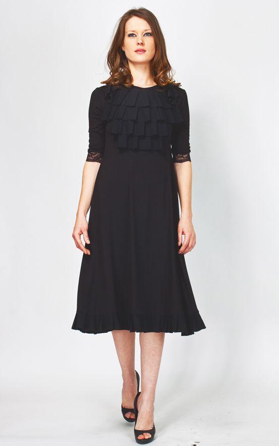 Купить трикотажное платье в пол.  Интернет магазин одежды Enna Levoni.