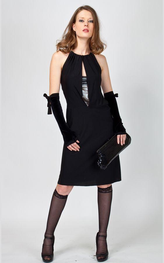 Платье коктейльное черное DR_178_11