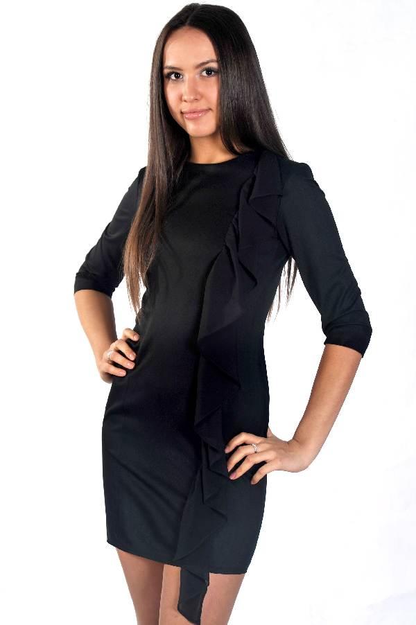 Элегантное черное платье от D&S.