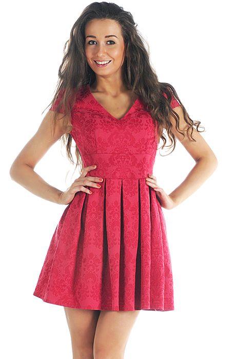 Яркое короткое летнее платье, выполненное из качественной натуральной...