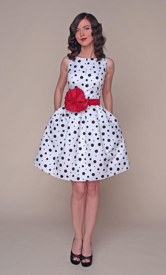 Пышное Платье В Горошек Купить