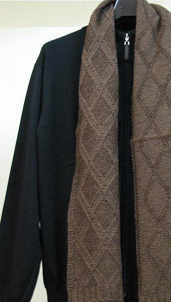 Мужской мужской шарф теплого кофейного цвета.Шарфы с имитацией ручной...