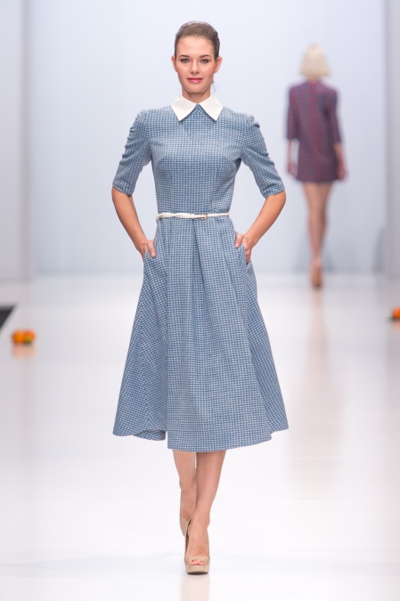 Дизайнерское платье в клетку