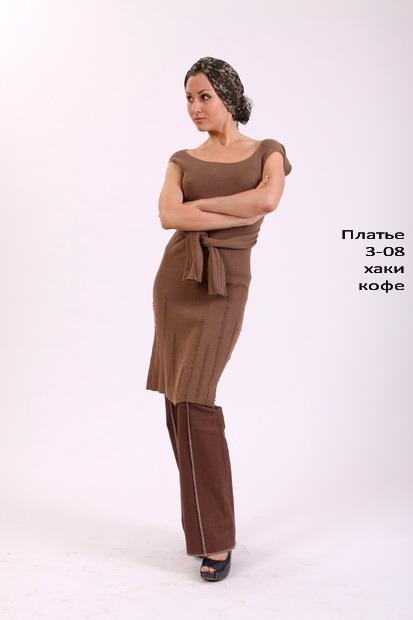 LISA-3-08.  Облегающее платье с рукавами-поясом.