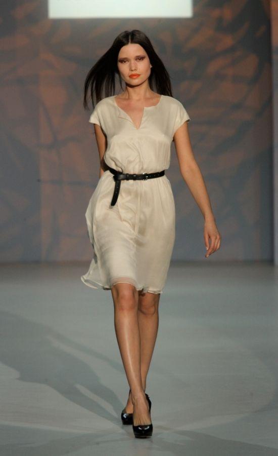 Платье туника из шелка
