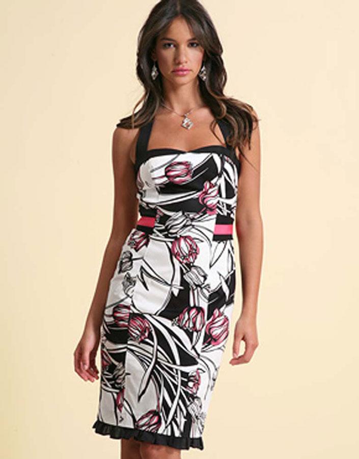 Летняя мечта - облегающее платье-сарафан, представляющее эффектное сочетание чёрного
