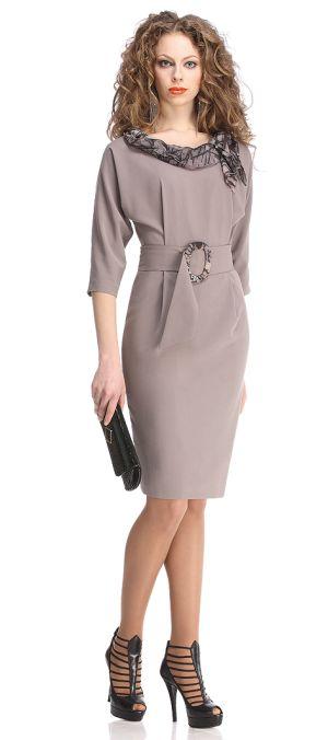 """1. Изысканное платье с рукавом  """"летучая мышь """" и широким поясом."""