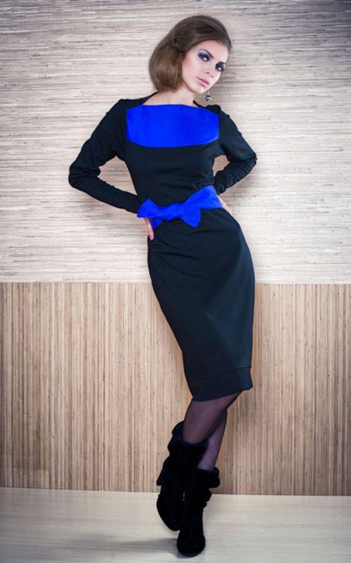 Черно Синее Платье С Доставкой
