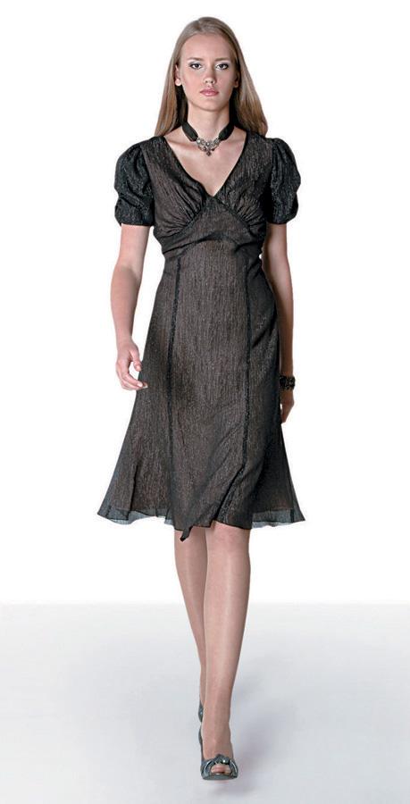 Как сшить платье из шифона с рукавами 94