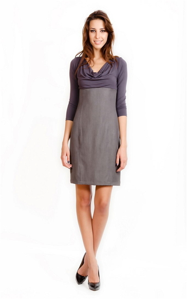 """Комбинированное платье  """"Тихая нежность """" купить в интернет-магазине, цена."""