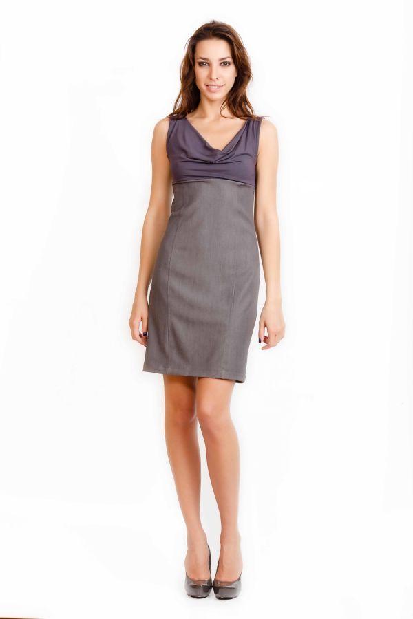 i*/i Шикарное платье, комбинированное трикотажем, мягкое, эластичное, свидетельствует о хор.