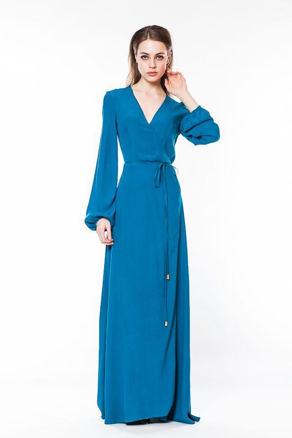 Купить Платье С Запахом Длинное