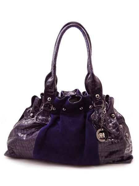 Италия Фиолетовая сумка замша-лакШирина.  600 pxРазмер.  Moogugul.