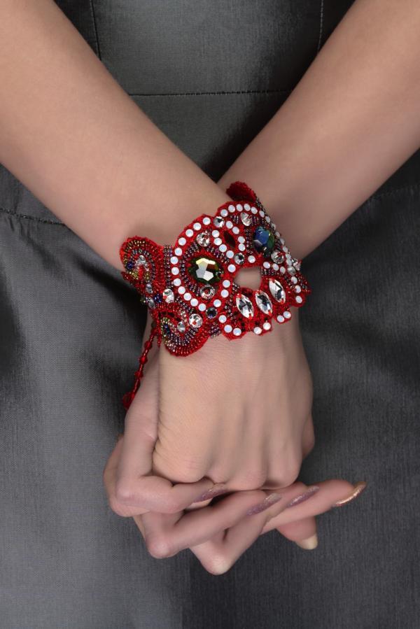 """Браслет  """"Red Scull """".  Коллекция эксклюзивных украшений от дизайнера Olga..."""